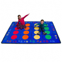 ABC Dots Rectangular Rug